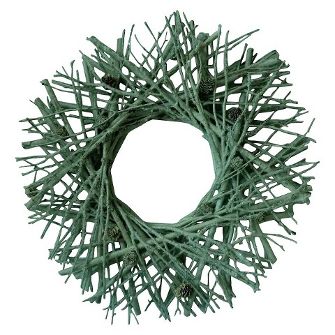 Smith & Hawken™ Twig & Pinecone Wreath 21""