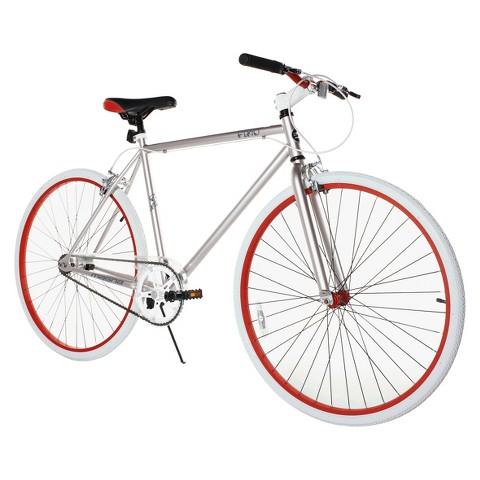 """Fix-D 700C Road Bike - Silver/Red (28"""")"""