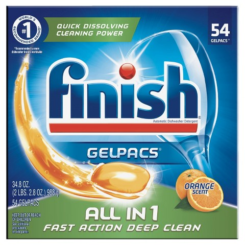 Finish Gelpacs Orange Scent 60 ct.