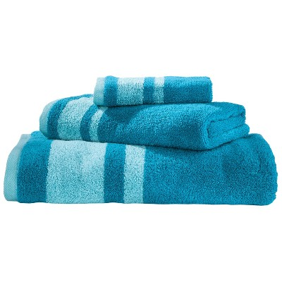 Stripe 3-Pc. Towel Set Turquoise - Room Essentials™