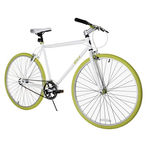 "Fix-D 700C Road Bike - White/Lime (28"")"