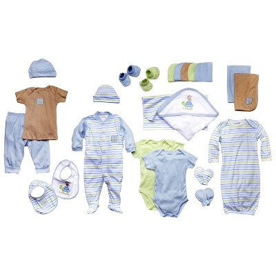 Luvable Friends™ Newborn Boys' 24 Piece Gift Cube - Blue