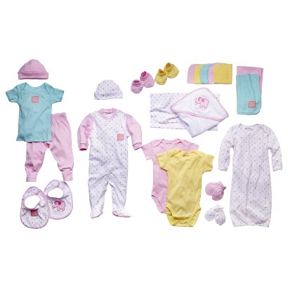 Luvable Friends™ Newborn Girls' 24 Piece Gift Cube - Pink