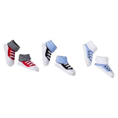 Luvable Friends™ Newborn Boys' 3 Pack Little Socks - Blue 0-6 M