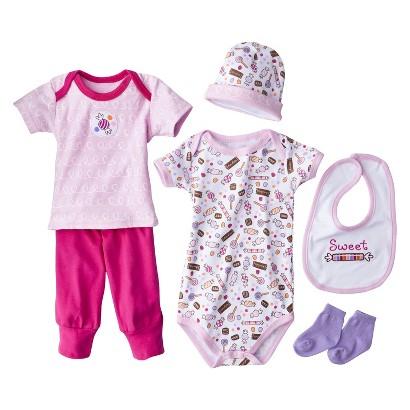 Luvable Friends™ Newborn Girls' 6 Piece Layette Box Set - Pink 0-6 M