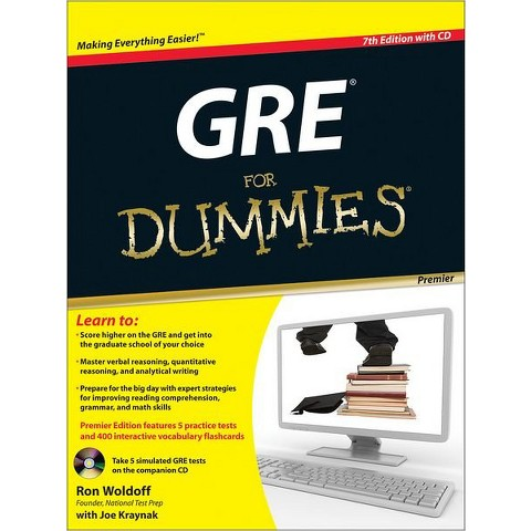 GRE For Dummies, Premier 7th Edition, with CD by Ron Woldoff & Joe Kraynak (With)(Paperback)