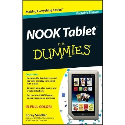 NOOK Tablet For Dummies by Corey Sandler (Paperback)