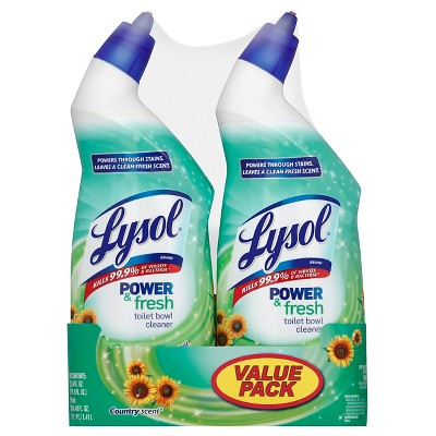 Lysol Power & Fresh Cling Toilet Cleaner Value pk Country Scent 48oz