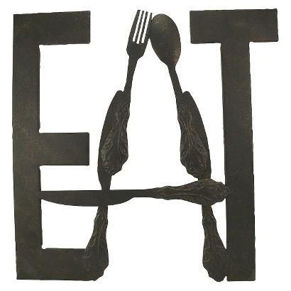 EAT WALL SCULPTURE - BRONZE