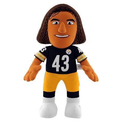 "Pittsburgh Steelers Bleacher Creatures Polamalu Plush Doll 14"""