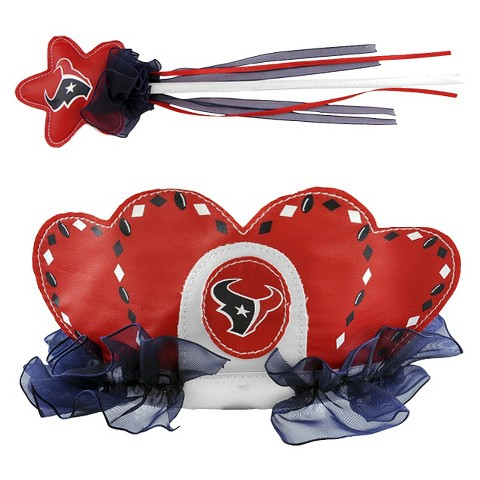 Bleacher Creatures Texans Princess Tiara & Wand Set
