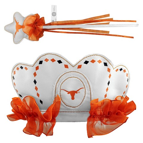 Texas Longhorns Bleacher Creatures Princess Tiara & Wand Set