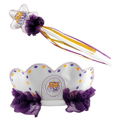 Bleacher Creatures CLC Louisiana State University Princess Tiara & Wand Set