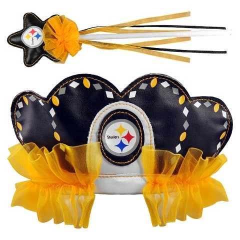 Pittsburgh Steelers Bleacher Creatures Princess Tiara & Wand Set