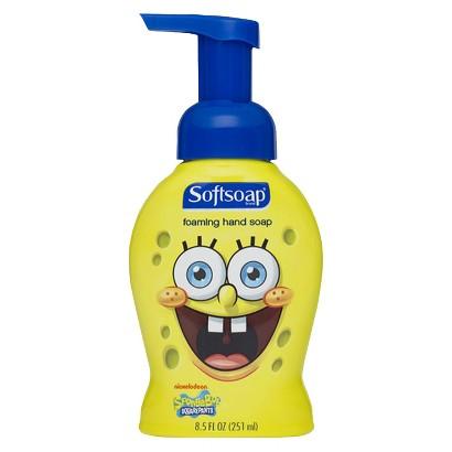 Softsoap Kids Foam Works SpongeBob Squarepants Liquid Hand Soap