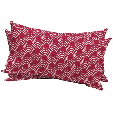 Room Essentials™ 2-Piece Outdoor Lumbar Pillow Set - Rose Scallop