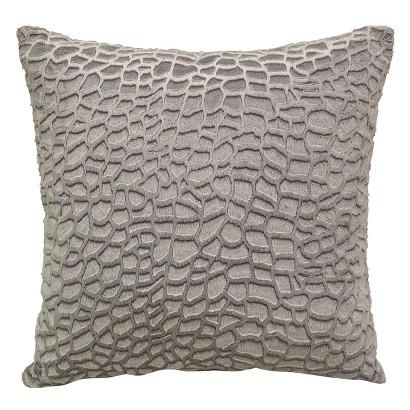 """Elements Zuma Toss Pillow - Gray (18x18"""")"""