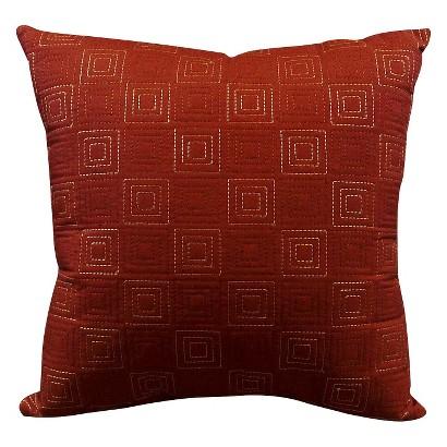 "Elements City Toss Pillow - Brick (18x18"")"