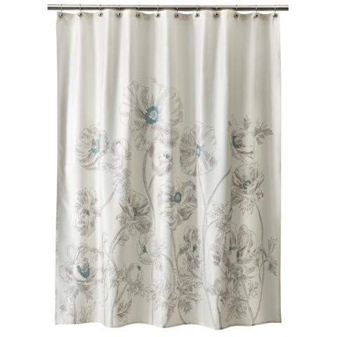 Threshold™ Floral Shower Curtain - Aqua