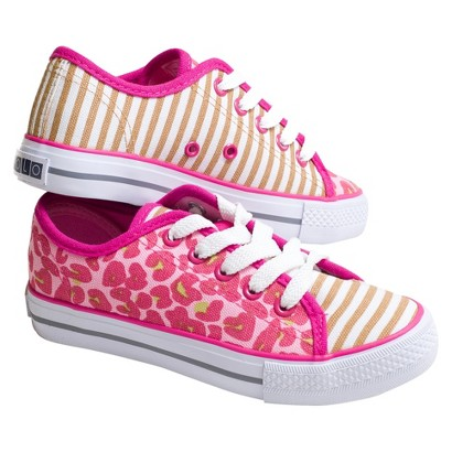 Girl's Xolo Shoes Tabby Lace-up Sneakers - Cheetah Multicolor