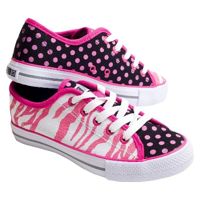 Girl's Xolo Shoes Zany Lace-up Sneakers - Zebra Multicolor