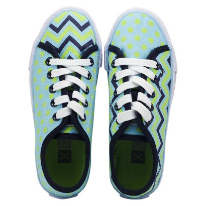 Girl's Xolo Shoes Groovy Lace Up - Zig Zag Multicolor