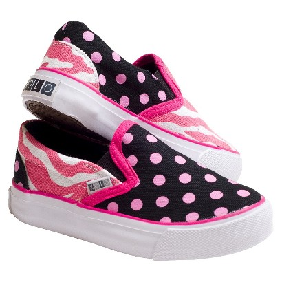 Toddler Girl's Xolo Shoes Zany Zebra Slip-on Sneakers - Multicolor