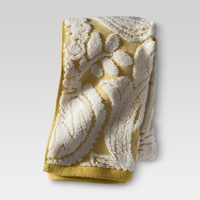 THRESHOLD™ FLORAL HAND TOWEL - YELLOW