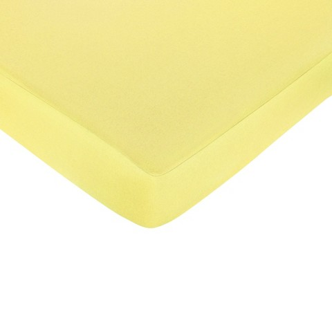 Sweet Jojo Designs Zig Zag Yellow and Gray Fitted Crib Sheet - Yellow