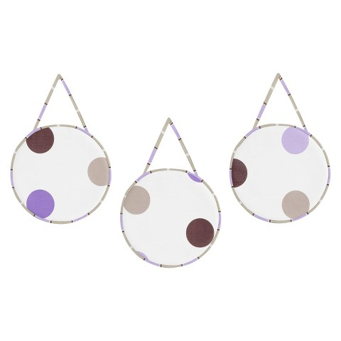Sweet Jojo Designs Purple Mod Dots Wall Hangings