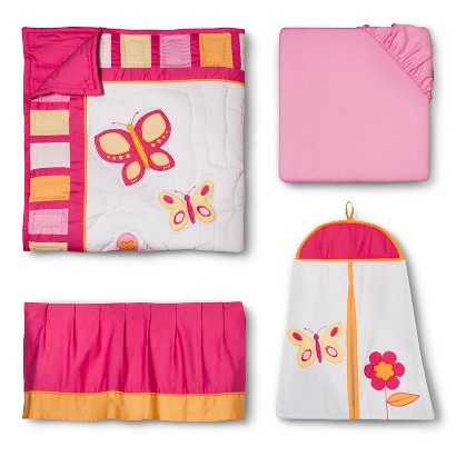 Sweet Jojo Designs Pink and Orange 11 pc. Crib Bedding Set
