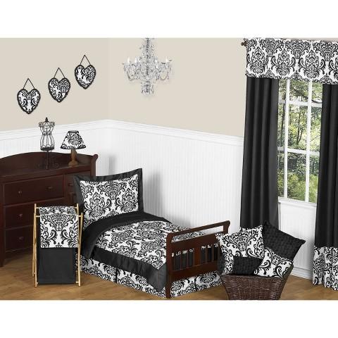 Sweet Jojo Designs Isabella Black and White 5 pc. Toddler Bedding Set