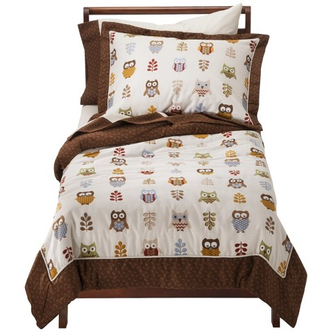 Sweet Jojo Designs Night Owl 5 pc. Toddler Bedding Set