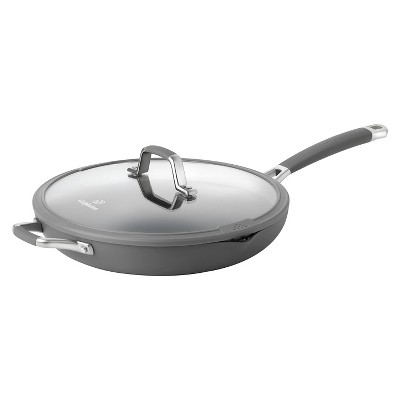 Calphalon Kitchen Essentials 12 Inch Easy System Covered Omelette Pan - Gray
