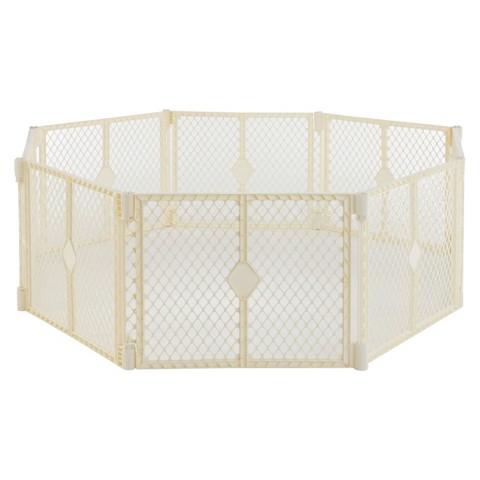 North States™ Superyard Indoor Outdoor® 8 panel Freestanding Gate