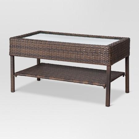 Rolston 4 Piece Wicker Conversation Furniture Set