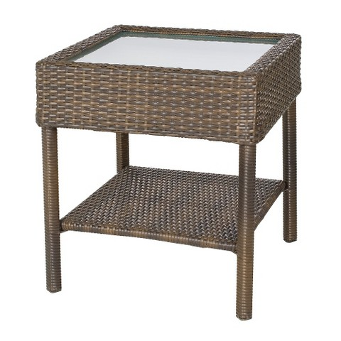 rolston wicker patio accent table threshold target