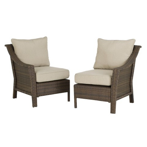 Rolston Wicker Outdoor Patio Sectional Left and Tar