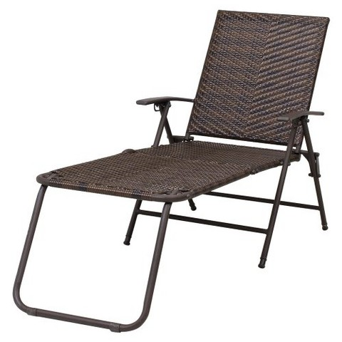 Target Stacking Chairs Rolston Wicker Patio Folding Chaise Lounge - Threshold™ product ...
