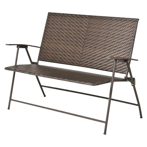 "Threshold™ Rolston Wicker 45"" Patio Folding Bench"