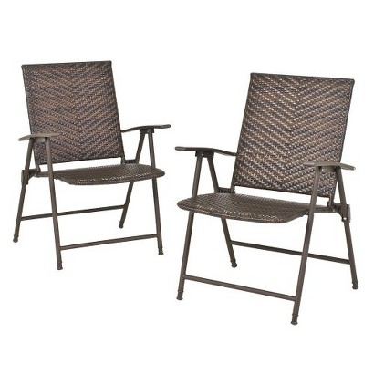 Threshold™ Rolston 2-Piece Wicker Patio Folding Chair Set