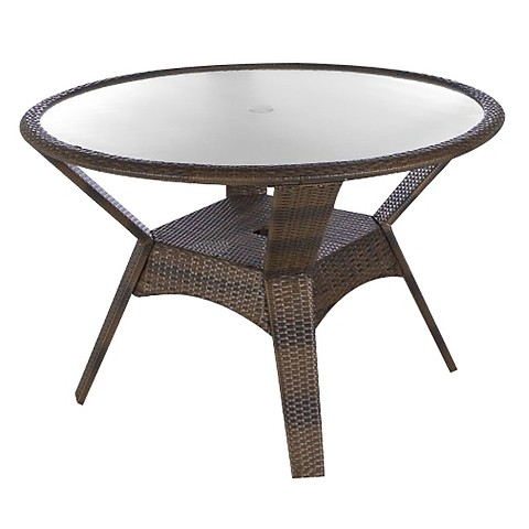 Threshold Rolston Wicker Round Patio Dining Table Target
