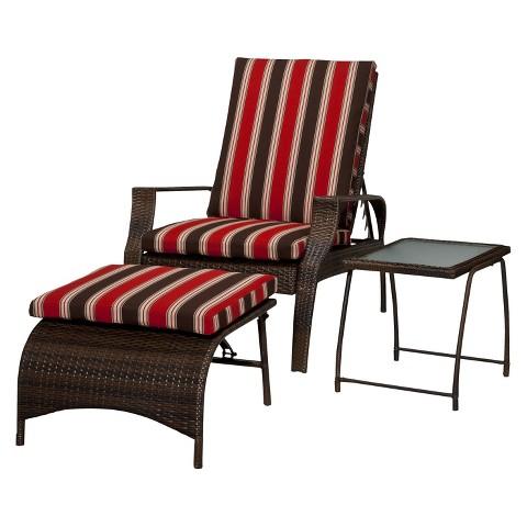 Threshold™ Rolston 3-Piece Wicker Patio Lounge Furniture Set