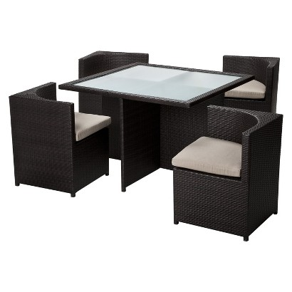 Threshold™ Rolston 5-Piece Wicker Patio Square Dining Furniture Set