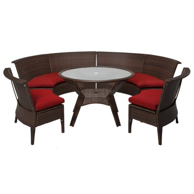 Threshold™ Rolston 5-Piece Wicker Patio Dining Sectional Furniture Set - Red