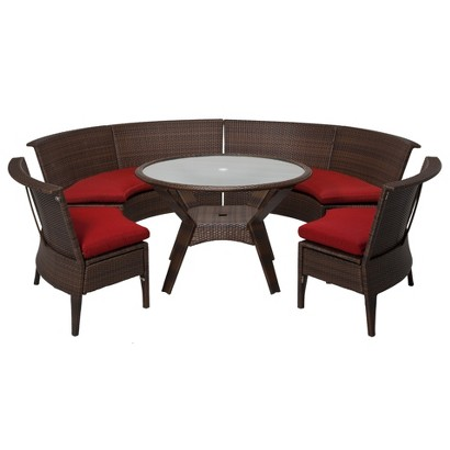 Threshold™ Rolston 5-Piece Wicker Sectional Patio Dining Furniture Set