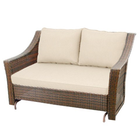 "Threshold™ Rolston Wicker Patio 57"" Patio Glider"