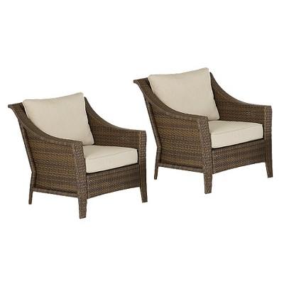 Rolston 2-Piece Wicker Patio Club Chair Set - Threshold™