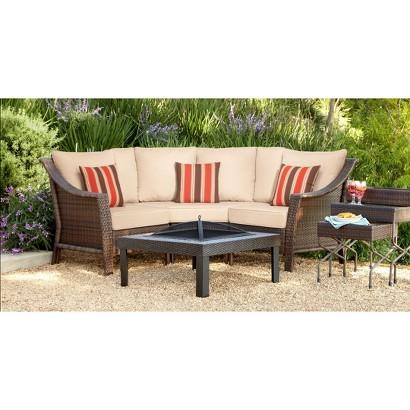 Threshold™ Rolston 3-Piece Wicker Patio Sectional Conversation Furniture Set