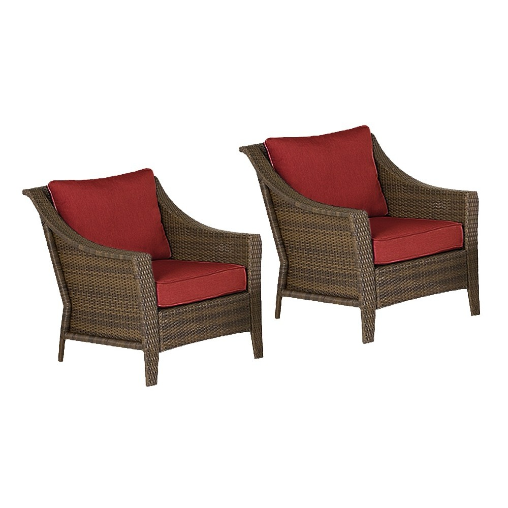 Upc 028776100250 threshold rolston 2 piece wicker patio club